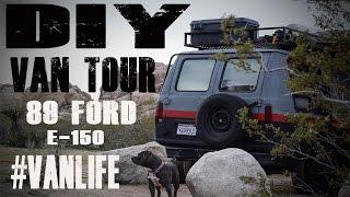 DIY: Van Life Tour Ford E-150 conversion