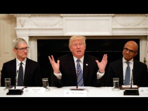 Trump meets with tech CEOs at White House