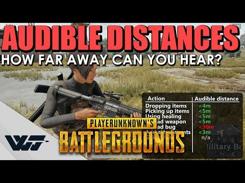 GUIDE: How far away can you HEAR SOUNDS? Audible distances of PUBG