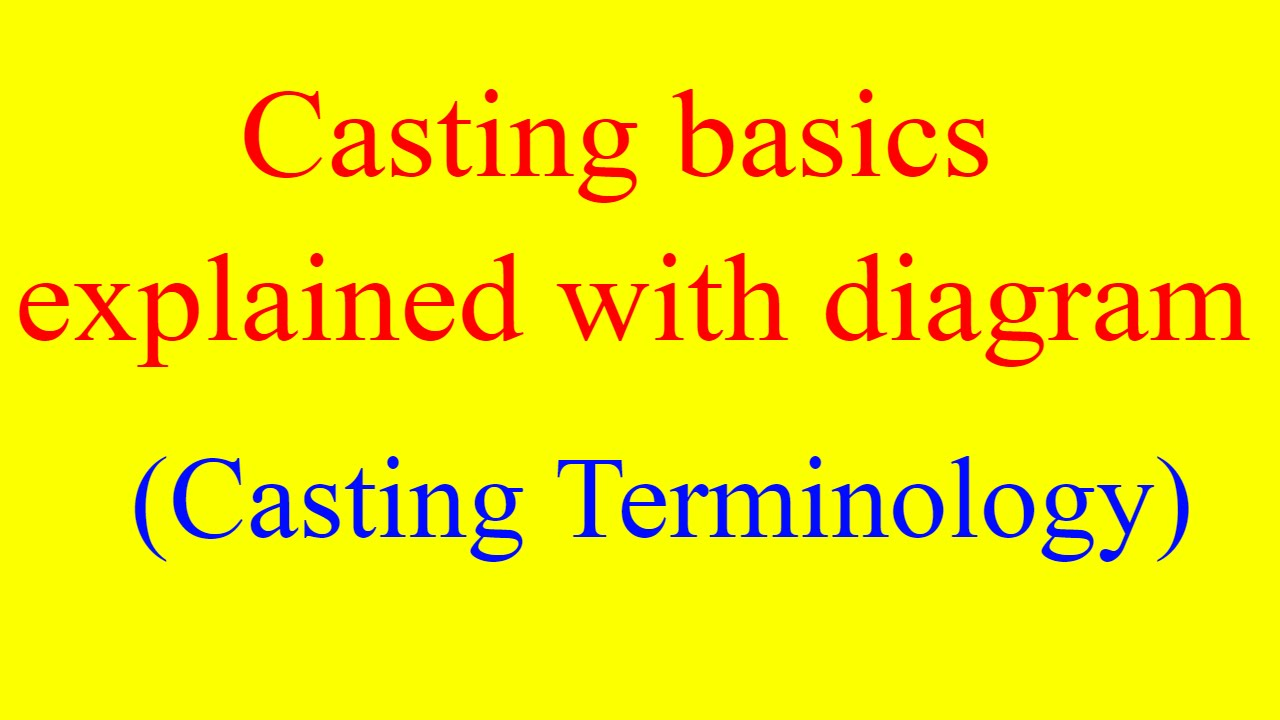 Casting basics explained with diagram casting nptel casting casting basics explained with diagram casting nptel casting terminology foundry sand casting ccuart Choice Image