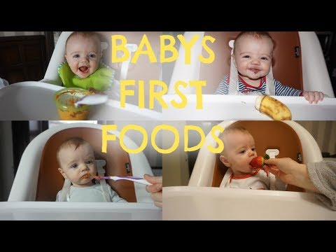 BABY'S FIRST FOODS | WHAT MY BABY EATS | WEANING MEAL IDEAS
