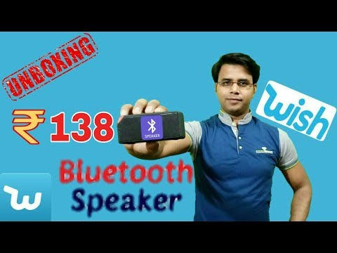 Wish Shopping||Portable Bluetooth Speaker Unboxing and Review
