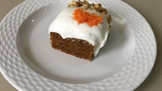 Whole Wheat Eggless Carrot Cake | No refined sugar or preservatives