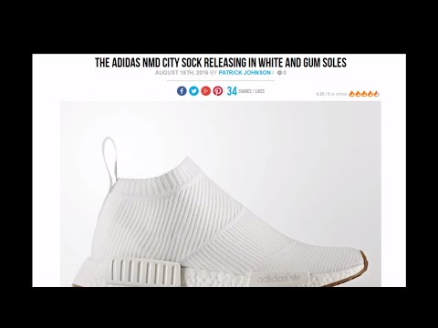 THE ADIDAS NMD CITY SOCK RELEASING IN WHITE AND GUM SOLES
