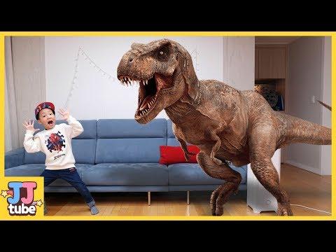 서준이가 공룡을 젤리로 만들어요. 공룡 장난감 상황극 놀이 Pretend Play Dinosaur Gummy [제이제이 튜브-JJ tube]