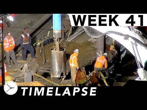 One-week 24/7 construction time-lapse with over 53 closeups/highlights: Week 41