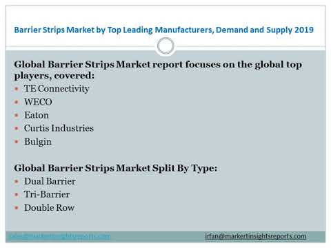Barrier Strips Market by Top Leading Manufacturers, Demand and Supply 2019