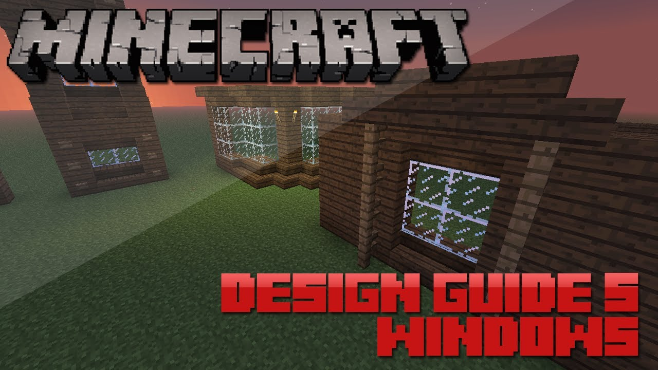 Minecraft Tips: 8 Awesome Window Designs - YouTube