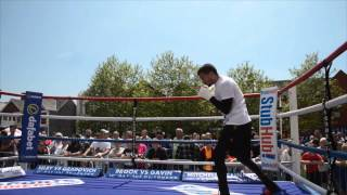 LEE SELBY SHADOW BOXING IN WALES - OPEN MEDIA WORKOUT -GRADOVICH v SELBY