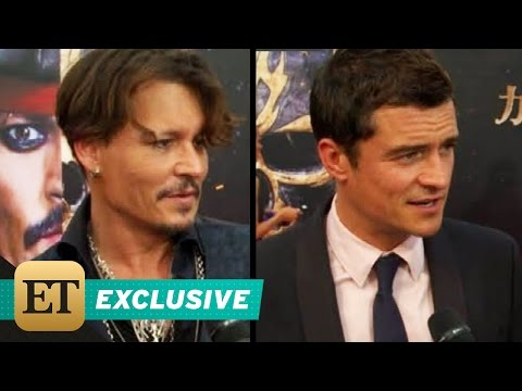 Johnny Depp Orlando Bloom Touch Down at Shanghai Disney for Epic 'Pirates' World Premiere