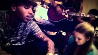 Chris Brown sings A Thousand Miles and No Bullshit acoustic