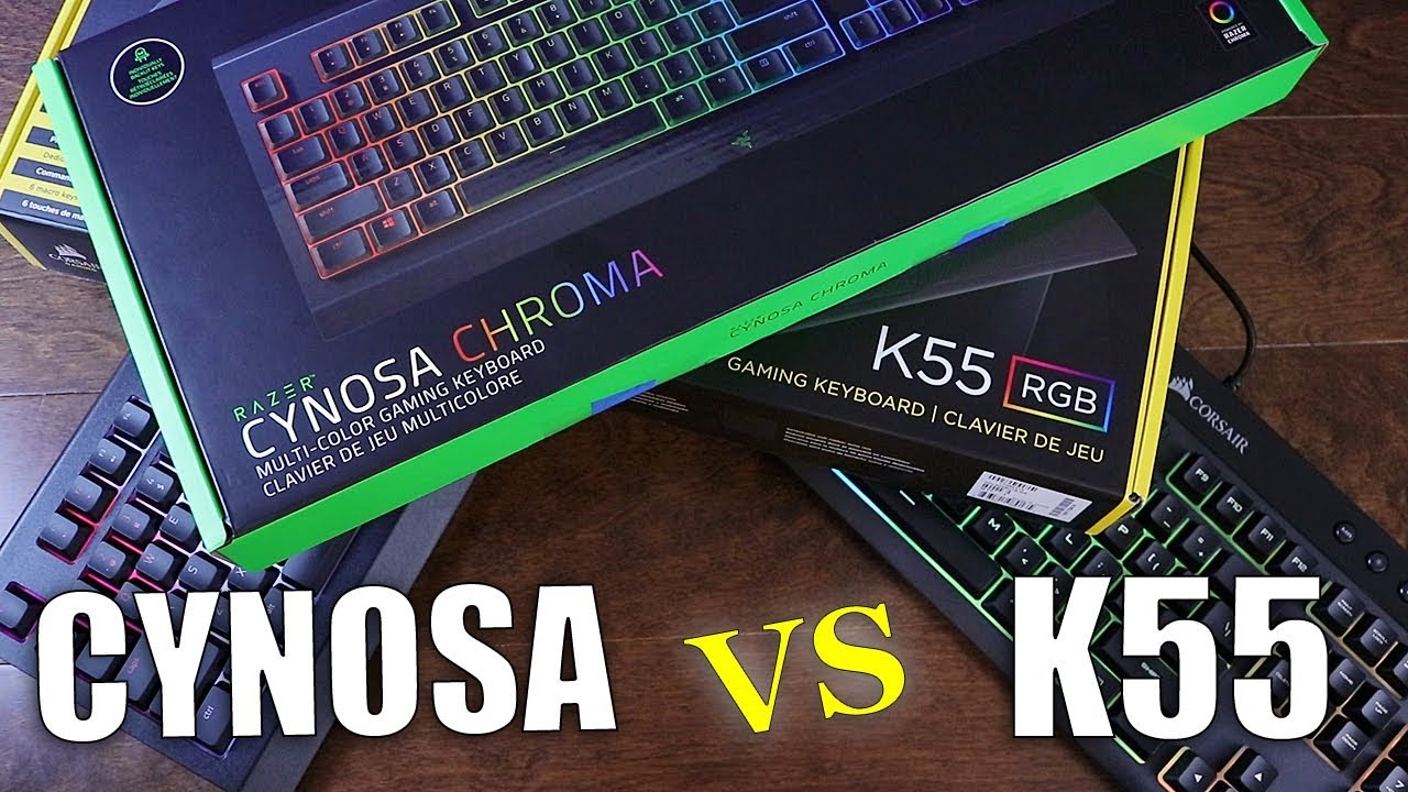Razer Cynosa Chroma VS Corsair K55