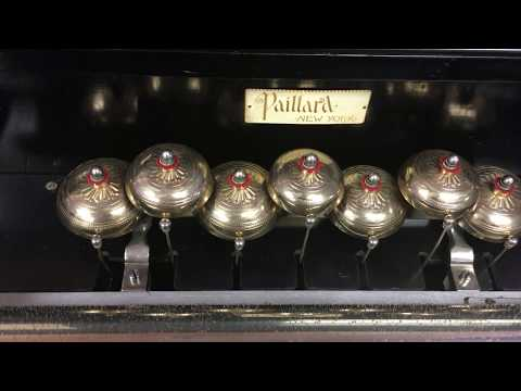Bunch Auctions: Paillard 10 tune Soprano Bells double comb Swiss cylinder music box