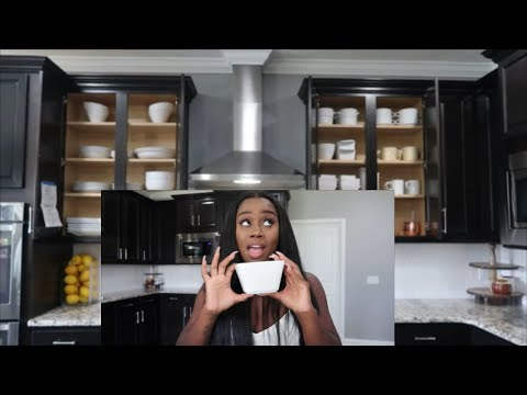 WHAT'S IN MY KITCHEN (WHITE DISHES) BUDGET ORGANIZATION | QUICK COOK WITH ME