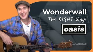 Wonderwall - Oasis - Acoustic Song Guitar Lesson (BS-805)