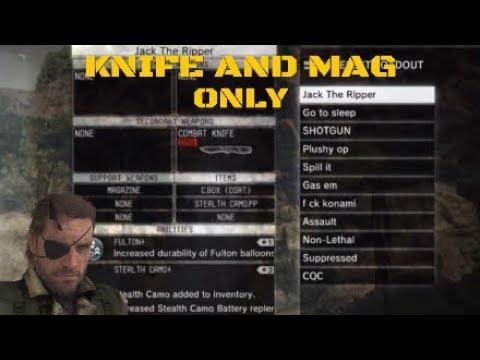 MGO3 Uncut knife and magazine gameplay