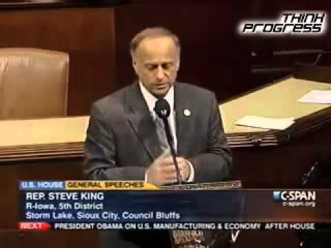 "Climate Denier Steve King Decries ""Unprecedented"" Flood"