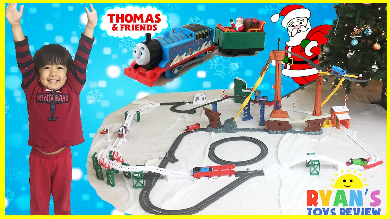 THOMAS AND FRIENDS Holiday Cargo Delivery Set Christmas Toy Trains ...