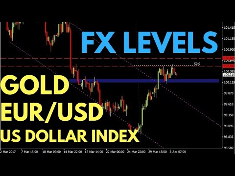 FOREX TRADE LEVELS:  US Dollar Index, Gold and EUR/USD