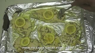 Super Easy Baked Chicken Recipe - Lemon Garlic Rosemary