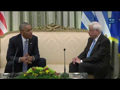 President Obama Meets with President Prokopis Pavlopoulos