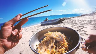A Fish From Tнe Rocks, Eat What You Catch - Overnight Solo Island Camping - Day 2