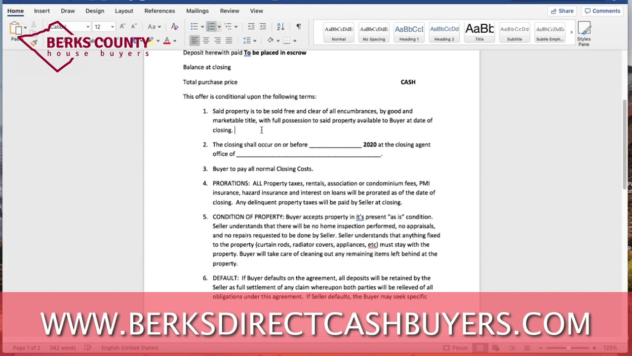 Offer to Purchase Agreement