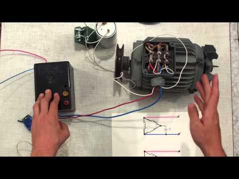 Как подключить двигатель 380 на 220 через конденсаторы расчет