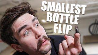WORLD'S SMALLEST BOTTLE FLIP?!