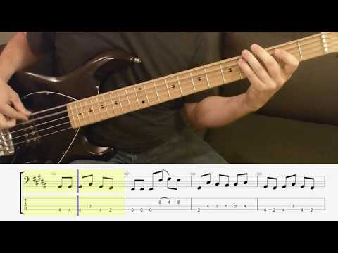 Rush - Limelight - Bass Cover - Scrolling Tabs Bass Lesson