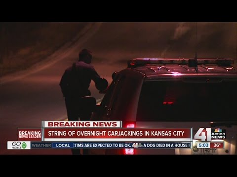 Carjacking suspect on the loose after string of incidents overnight