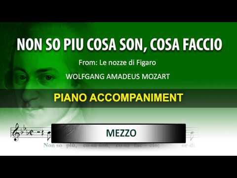 Non so piu cosa son, cosa faccio / Karaoke piano / Wolfgang Amadeus Mozart / Mezzo soprano