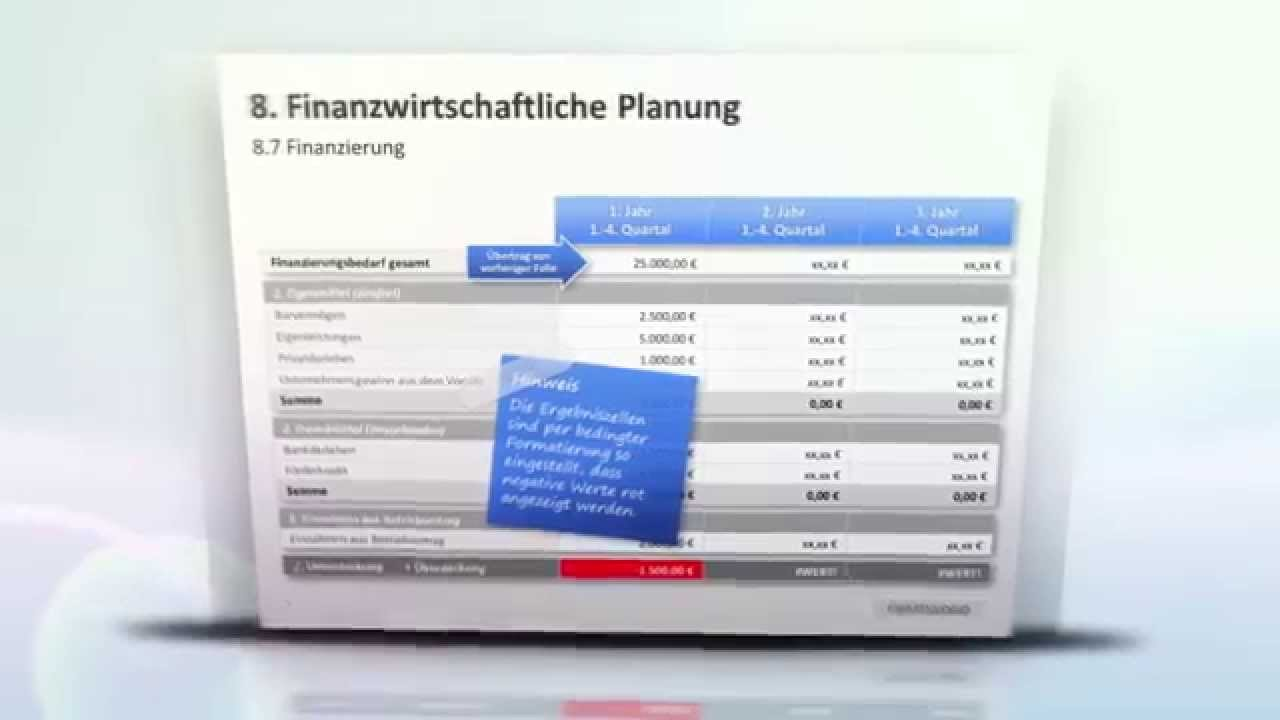 PowerPoint Businessplan Vorlagen - YouTube