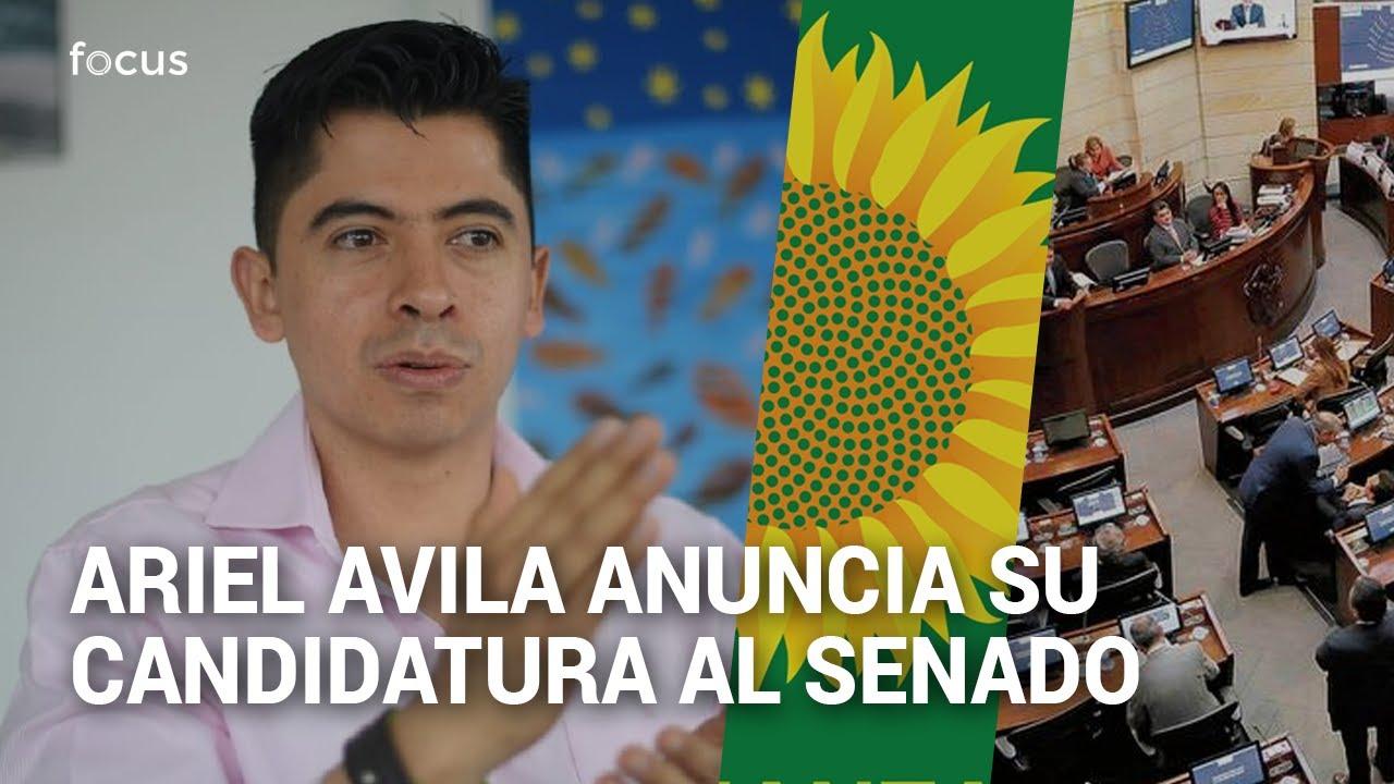 Ariel Ávila anuncia su candidatura al Senado por Alianza Verde