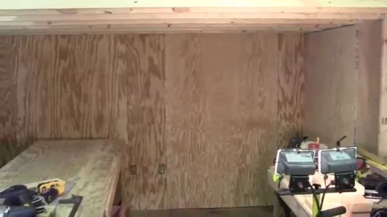Shed Wall Finished With Plywood Youtube