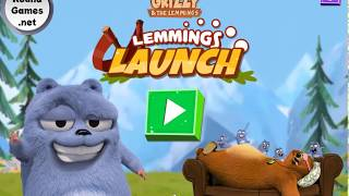 Lemmings Launch Grizzy and The Lemmings GamePlay