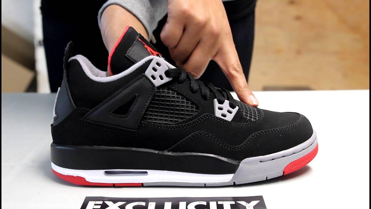 Nike Air Jordan 4 Gs Rétro Élevés 4s 2014 plus récent Syf31s0O