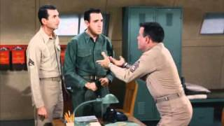 Gomer Pyle S2 Carter getting mad at Pyle after he loses his voice!