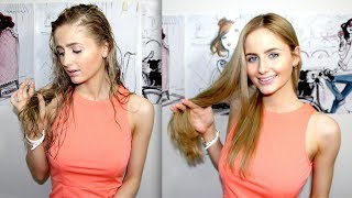 How to: Blow dry your hair straight + reduce frizz Thumbnail