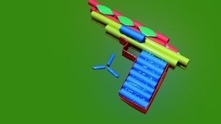 How to make a Stylish Paper Gun that Shoots Paper Bullet
