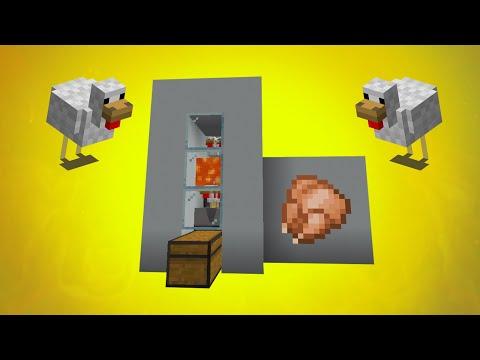 🐤Como Hacer Una Granja De Pollos Automática En Minecraft | Comida INFINITA | Minecraft 1.14