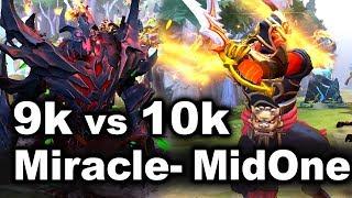 MidOne vs Miracle- 10k vs 9k - DOTA 2 BEST MID`S FIGHT!