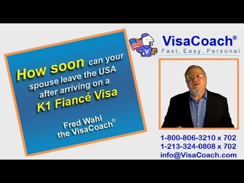 Fiance Visa Process: How Soon Can Spouse Leave USA? K146