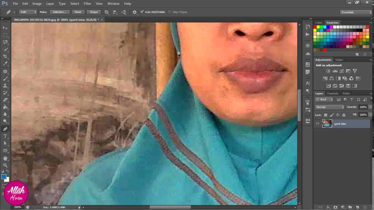 Cara mengganti background foto dengan adobe photoshop cs6 ...