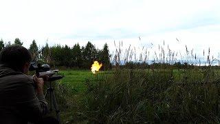Weihrauch HW97K. Выстрел в газовый баллон. Shot in  gas tank.