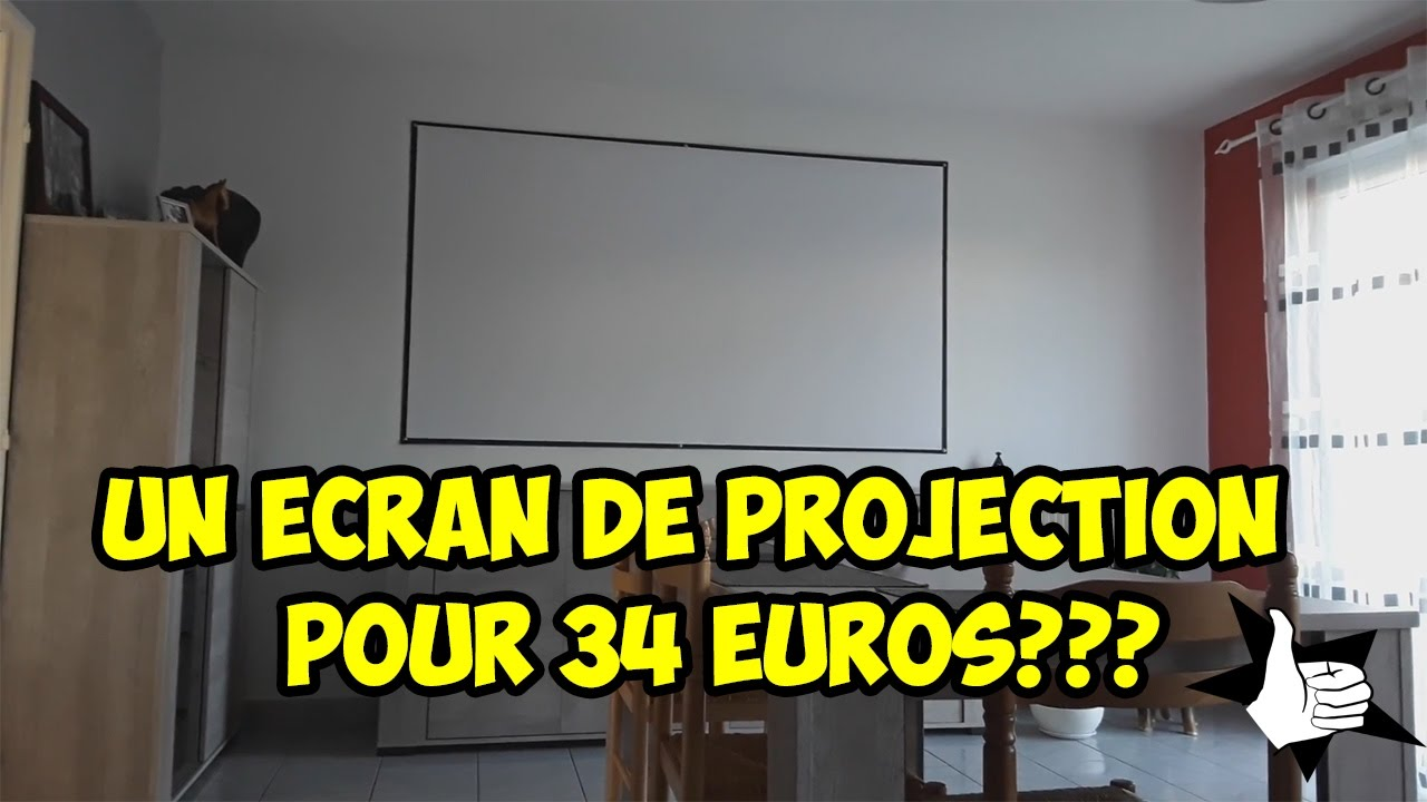 un ecran de projection pas cher c 39 est possible youtube. Black Bedroom Furniture Sets. Home Design Ideas
