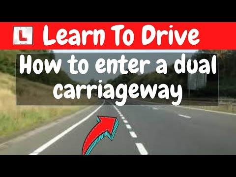 How to enter a Dual Carriageway via the acceleration lane(slip road)