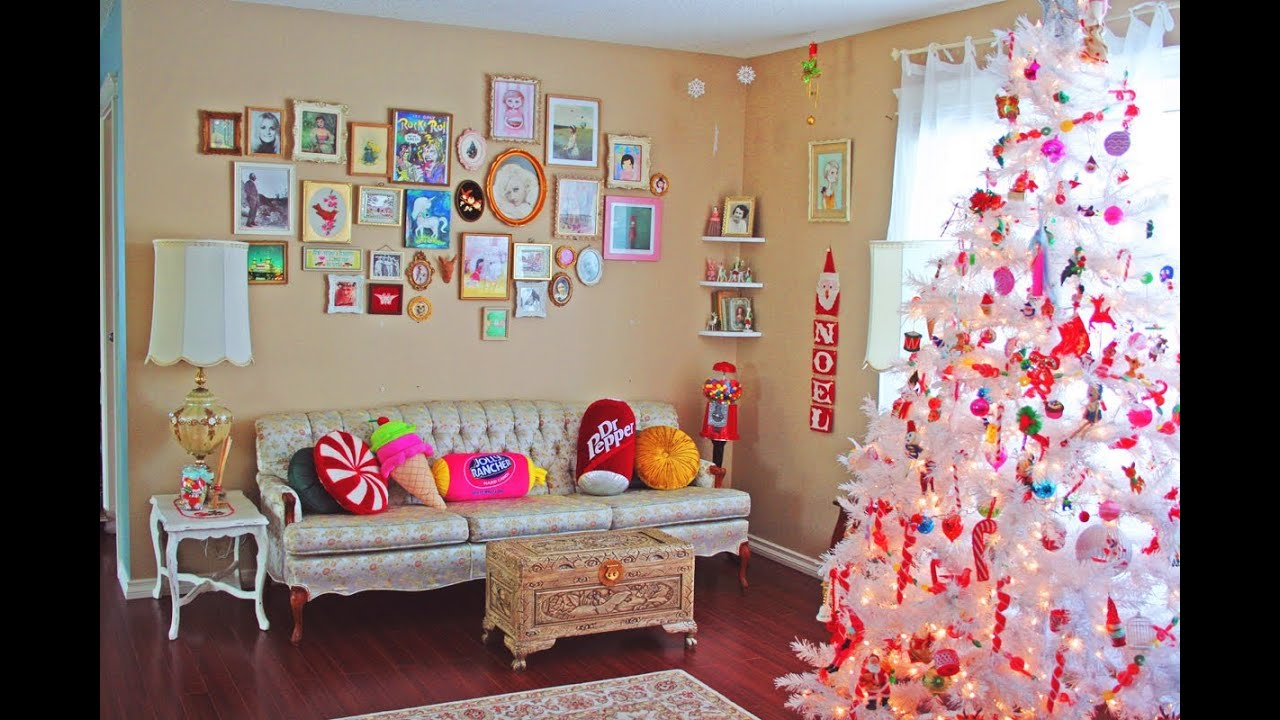 how to decorate my small living room for christmas lights decoration ideas youtube
