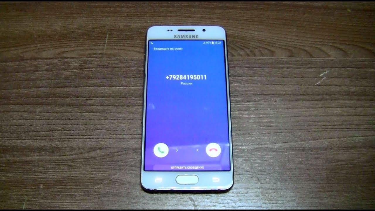 samsung galaxy a3 2016 incoming call youtube