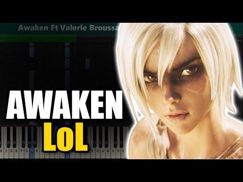 Awaken (League of Legends OST) Piano Tutorial - Sheet Music thumbnail